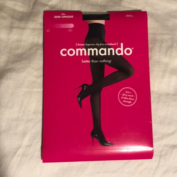 49ac174b04d12 Commando Accessories | Nwt Semi Opaque Black Tights Size M | Poshmark